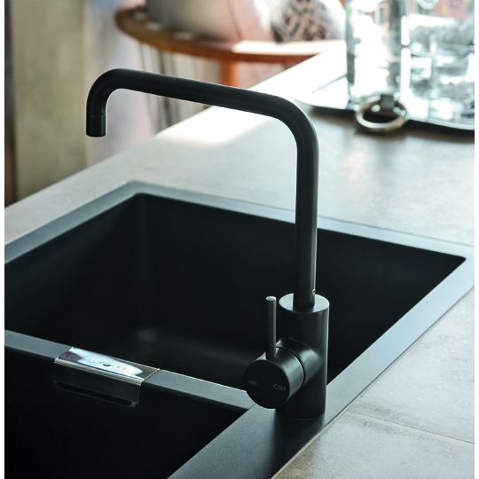 Black and white bathroom accessories - Matt Black Astra Walker
