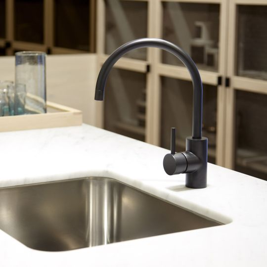 Brushed Stainless Steel Kitchen Faucet